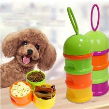Silicone Travel Bowls Pet Dog Bottle Water Camping Plate Feeder