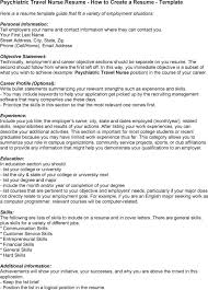 Resume For Nursing Position Download Travel Nurse Resume Haadyaooverbayresort Com