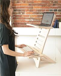 laptop standing desk converter humbleworks stan1 height adjustable standing desk for laptop users