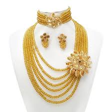 gold new designs necklace images 2018 2015 new design fashion african wedding beads jewelry set jpg