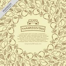 ornamental background of delicious food thanksgiving sketches