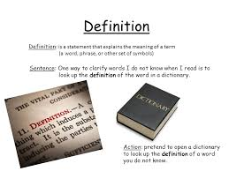 definition definition is a statement that explains the meaning of a