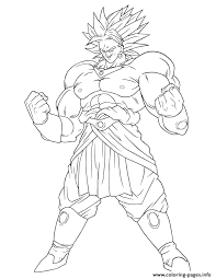 dragon ball broly coloring coloring pages printable