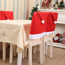 Christmas Chair Back Covers Christmas Table Chair Covers Ebay