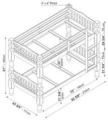 bunk bed measurements palace imports dakota twin twin bunk bed honey pine