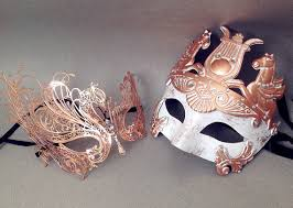 couples masquerade masks gold swan mask masquerade mask pair gladiator