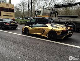 lamborghini aventador gold lamborghini aventador lp750 4 superveloce roadster 4 april 2016