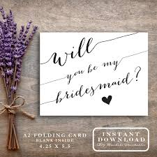 cards to ask bridesmaids bridesmaid card printable will you be my bridesmaid asking