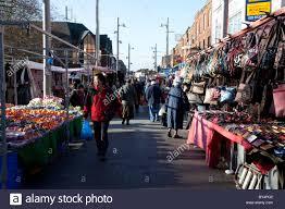 walthamstow market outdoor market in europe stock