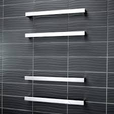 square heated single bar towel rail bathroomware house pods