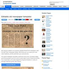 editable old newspaper template pearltrees