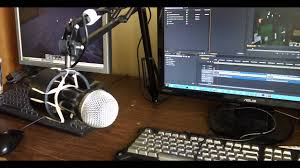 Computer Desk Microphone Diy Desk L Mic Boom Conversion With Shock Mount