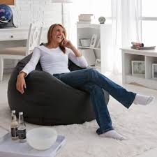 Oversize Bean Bag Chairs Furniture Incredible White Living Room Decoration Ideas Using