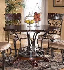 dark brown round kitchen table the best of ashley furniture kitchen tables kenangorgun com in