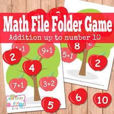 apple tree math file folder game itsy bitsy fun