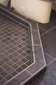 shower how to waterproof concrete shower floor amazing cement