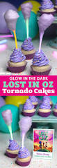 glow in the dark cotton candy cupcakes lost in oz tornado cake