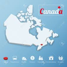 Capital Of Canada Map by Canada Map Icon Endless Icons Canada Canadian Country Location