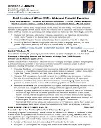 Cio Resume Samples by Resume Samples Chief Investment Officer Bank Hnw