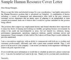 good cover letter examples for human resources position 66 for