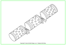 christmas cracker colouring