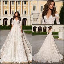 discount 2017 retro vintage lace vestido de novia half long sleeve