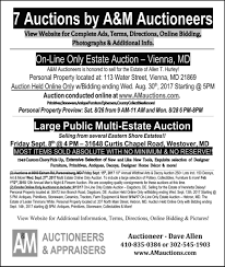 Home Decor Auction Am Auctioneers And Appraisers 7 Auctions By A And M Auctioneers