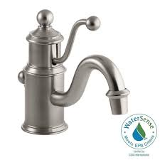 kohler antique single hole single handle low arc water saving