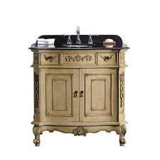 36 In Bathroom Vanity With Top Black Cream Granite Bathroom Vanities Bath The Home Depot