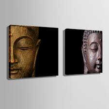 aliexpress com buy hd oil painting buddha head decoration