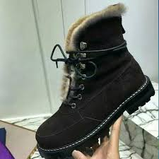 womens boots for winter 2017 luxury brand winter boots genuine leather flat ankle boots