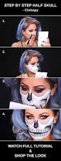 Halloween Makeup Ideas For Guys by Best 25 Half Skull Makeup Ideas On Pinterest Half Skeleton