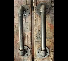 industrial cabinet door handles amazon com 2 industrial door handles black pipe door pulls