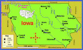 map of iowa towns map of iowa map travel vacations