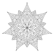 free printable geometric coloring pages adults