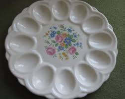 deviled egg serving dish vintage egg plate etsy