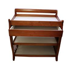 Wood Changing Table Tuscany Solid Wood Sleigh 2 Shelf Cognac Finish Changing Table W