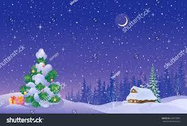 vector cartoon illustration beautiful winter snow stock vector