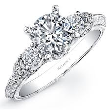 engraving engagement ring 18k white gold engraved diamond engagement ring nk14902 w