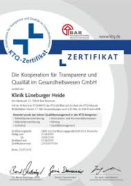 Bad Bevensen Klinik Klinik Lüneburger Heide Zertifizierung