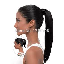 pics of black woman clip on hairstyle long ponytail clip in pony tail hair extension for black women
