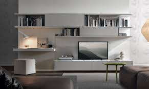 modern built in tv cabinet contemporary tv wall unit lacquered with white storage with
