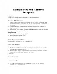finance resume templates 36 best best finance resume templates