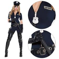 ladies police cop halloween costume fancy dress