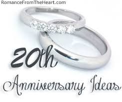 20th wedding anniversary gift ideas 20th anniversary ideas romancefromtheheart