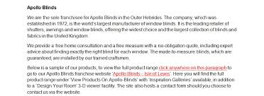 Apollo Blinds And Awnings Other Products Apollo Blinds Angus Maciver Ltd Stornoway