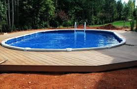 Above Ground Pool Ideas Backyard Semi Inground Pool Deck Designs 40 Uniquely Awesome Above Ground