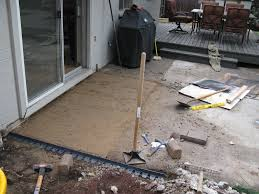 How To Cement A Patio How To Build A Patio With Pavers And Sand Home Outdoor Decoration