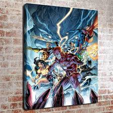 no frame dc superhero collection three hd canvas print wall art