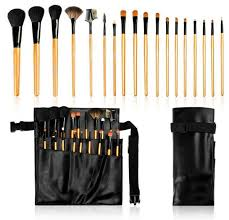 Makeup Artist Belt 18pcs Professional Makeup Brush Belt Bag Leather Artist Makeup